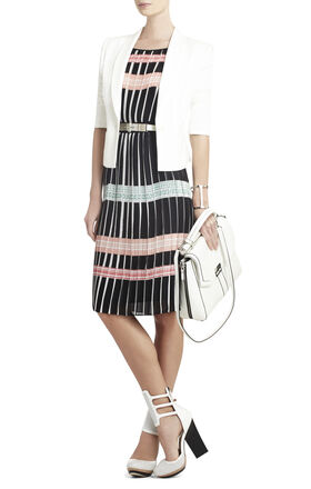 Shelby Pleated Print Dress