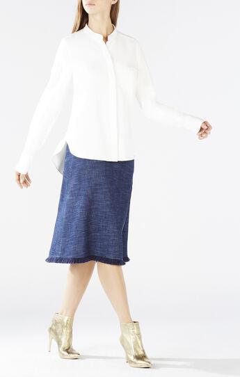 Victoriya Draped Tieback Shirt