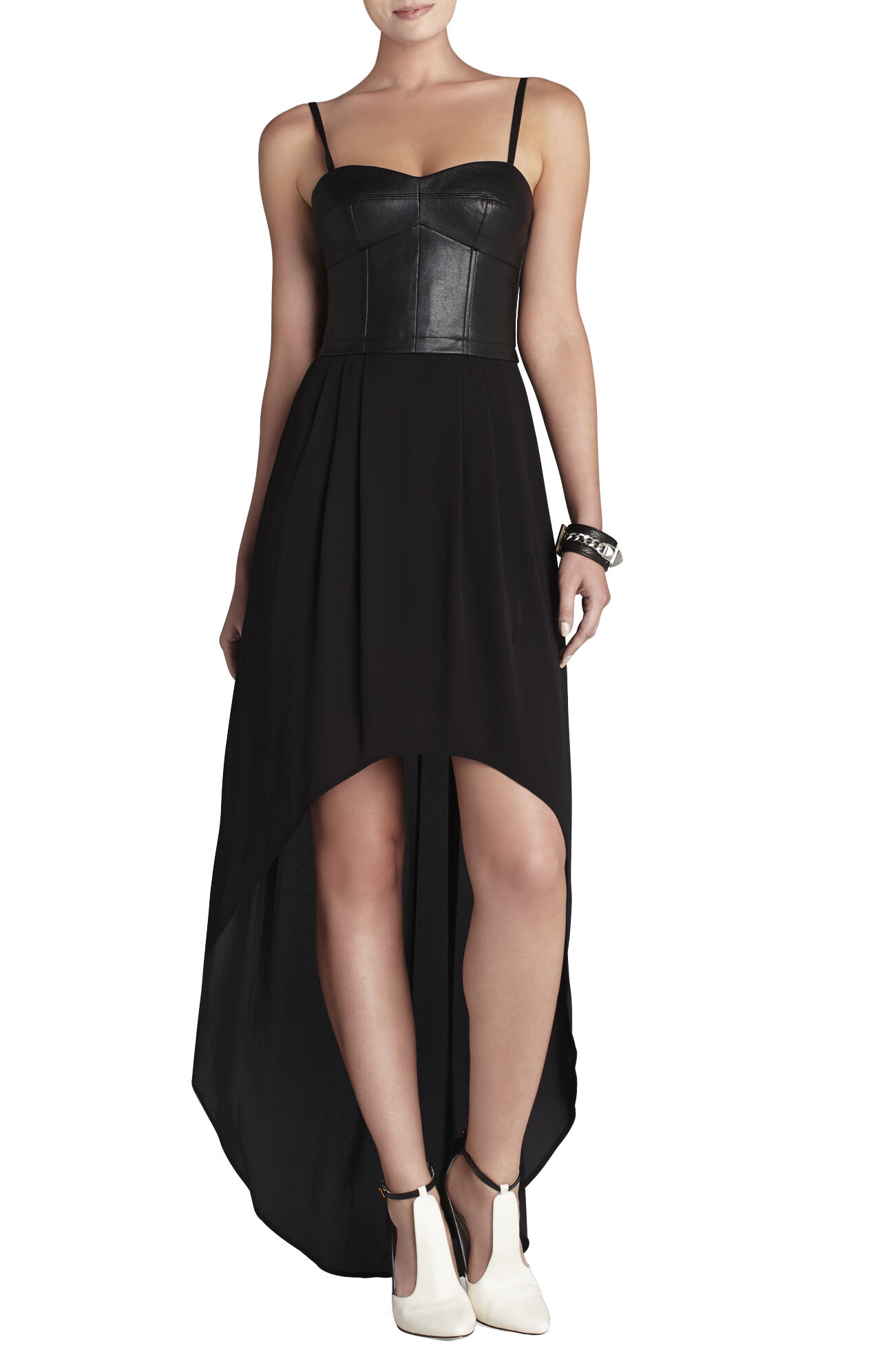 Leandra Bustier Draped Dress