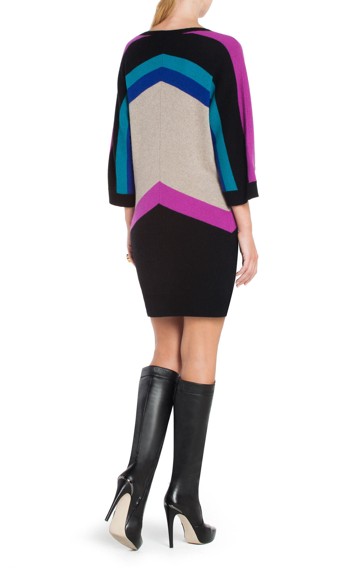 Faiza Oversized Color-Blocked Sweater