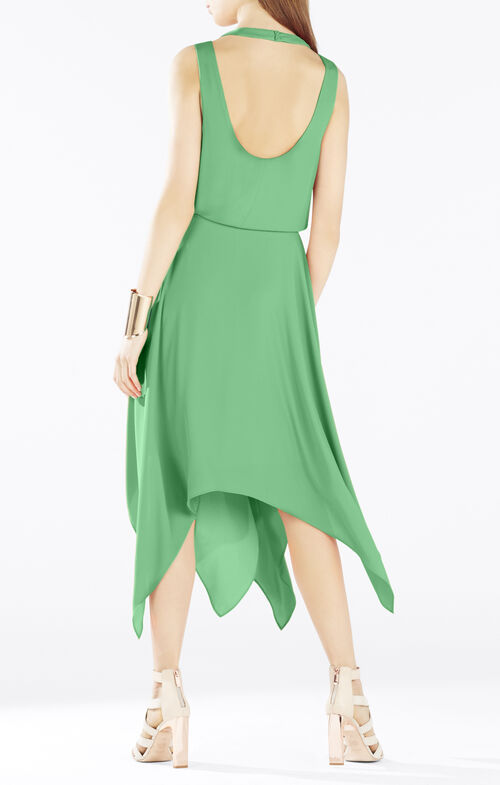 Klara Wrap-Top Handkerchief Dress