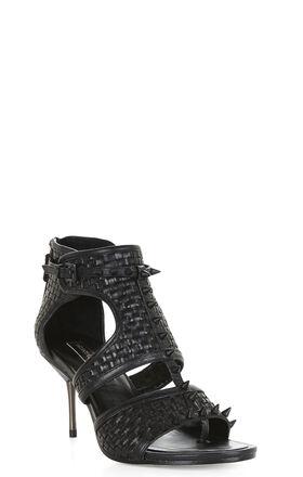 Cira Woven Spike High-Heel Sandal