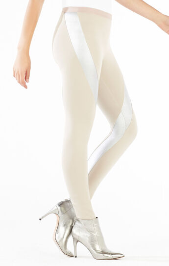 Tarik Metallic Blocked Ponte Legging