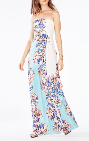 Grace Strapless Floral Print Dress