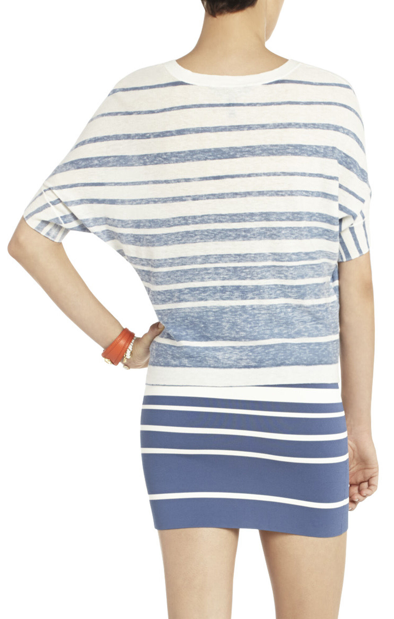 Maria Striped Dolman-Sleeve Top