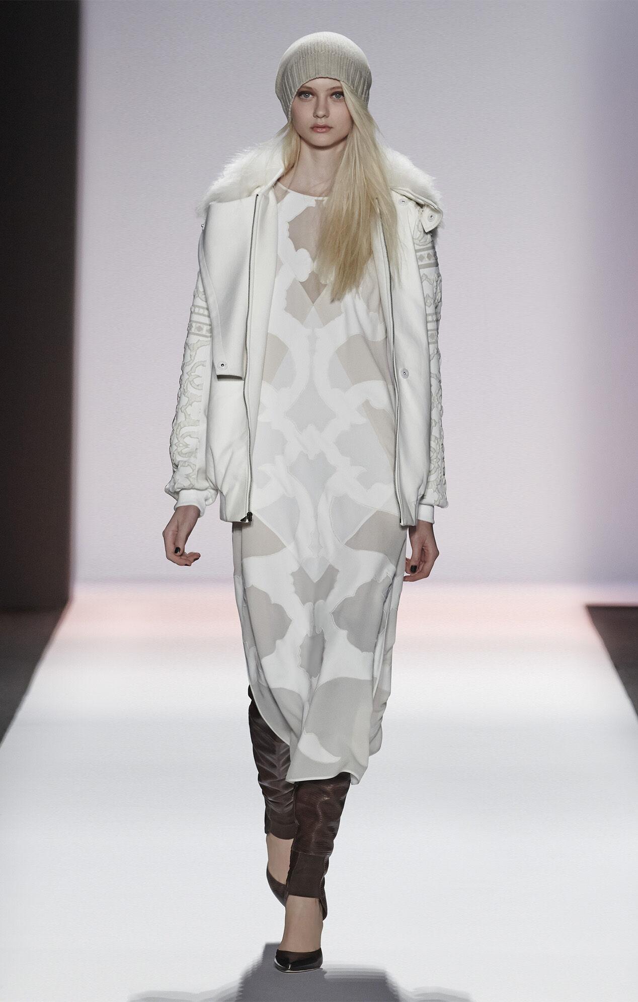 Runway Nikola Pattern-Blocked Dress