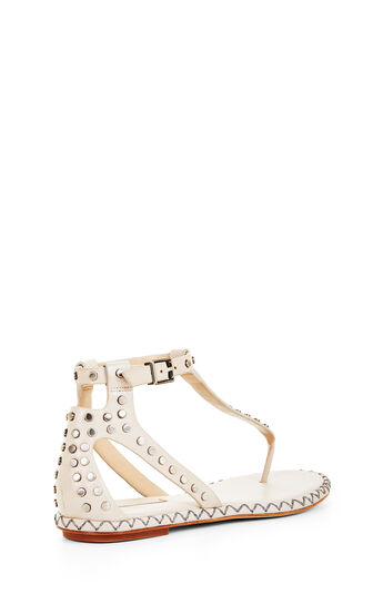 Macall Grommet Flat T-Strap Sandal