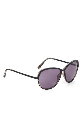 Oversized Metal and Plastic Sunglasses
