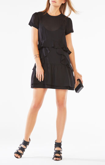 Inez Ruffled Chiffon Dress