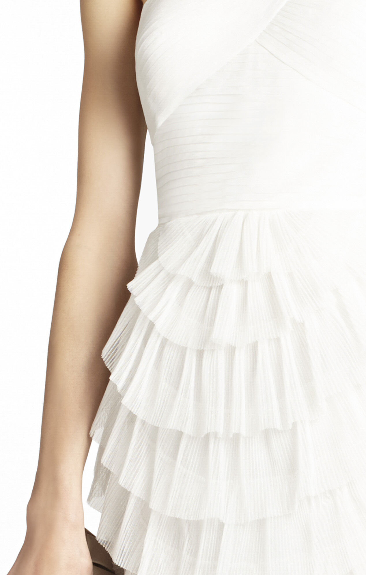 Ella Pleated One-Shoulder Cocktail Dress