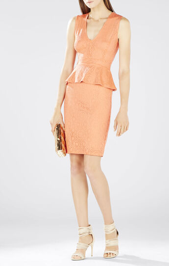 Juliene Deep V Peplum Dress