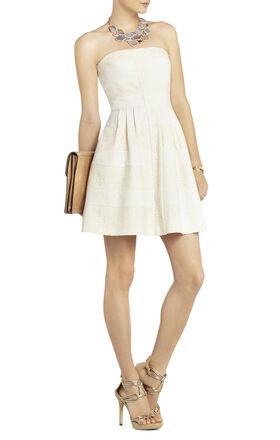 Dorothea Strapless Striped Dress