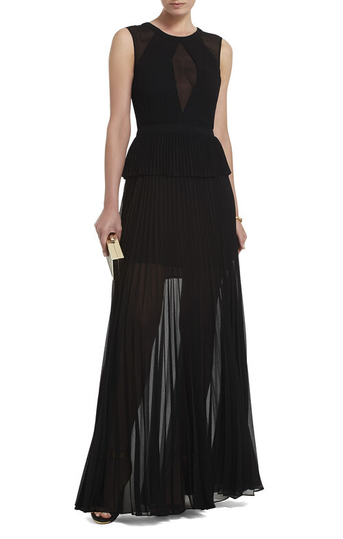 Karolina Sleeveless Pleated Gown