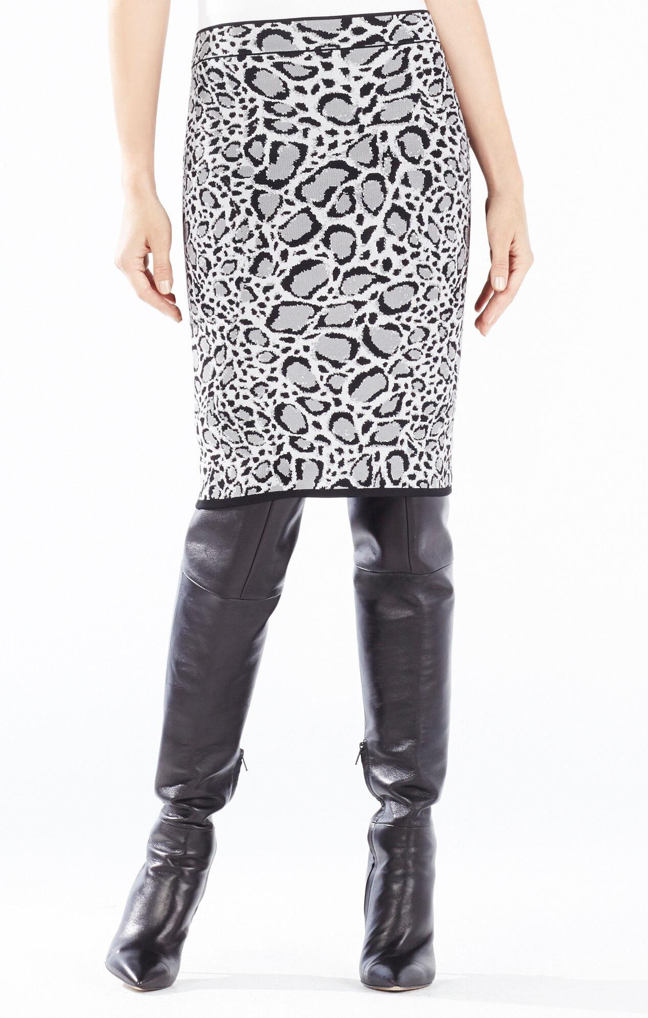 Pavel Ocelot Jacquard Pencil Skirt