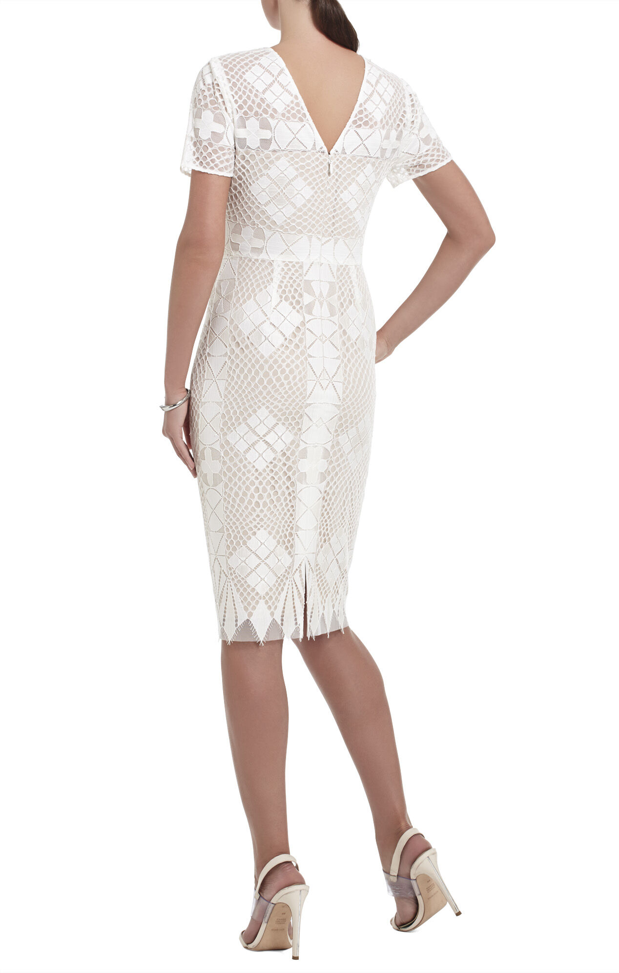 Samara Engineered-Lace Sheath Dress
