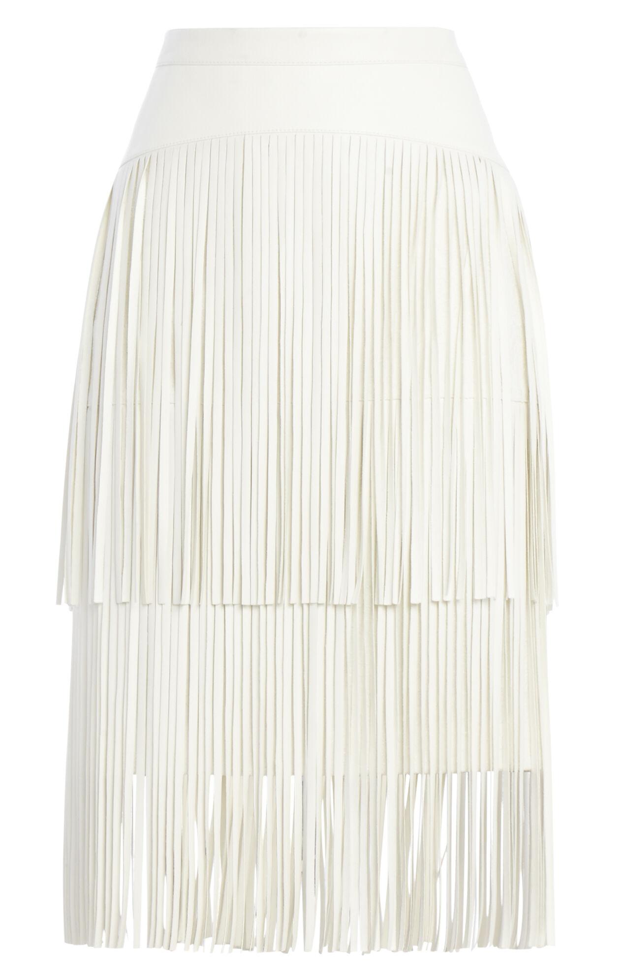Rashell Fringe-Detail Pencil Skirt