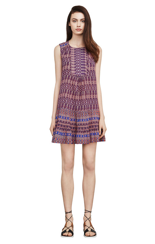 Yulissa Mosaic-Print Dress