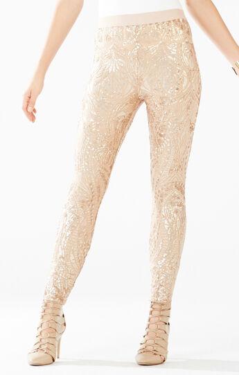 Dena Tapestry Sequined Leggings
