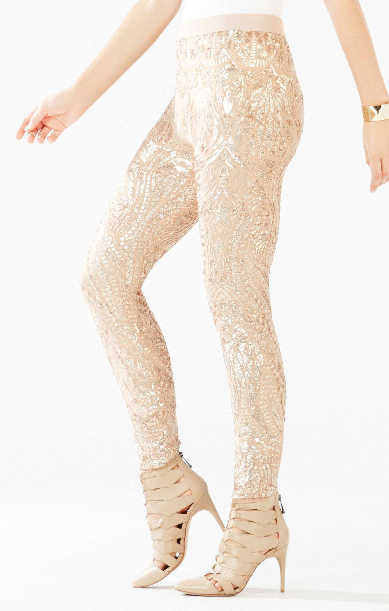 Dena Tapestry Sequined Leggings