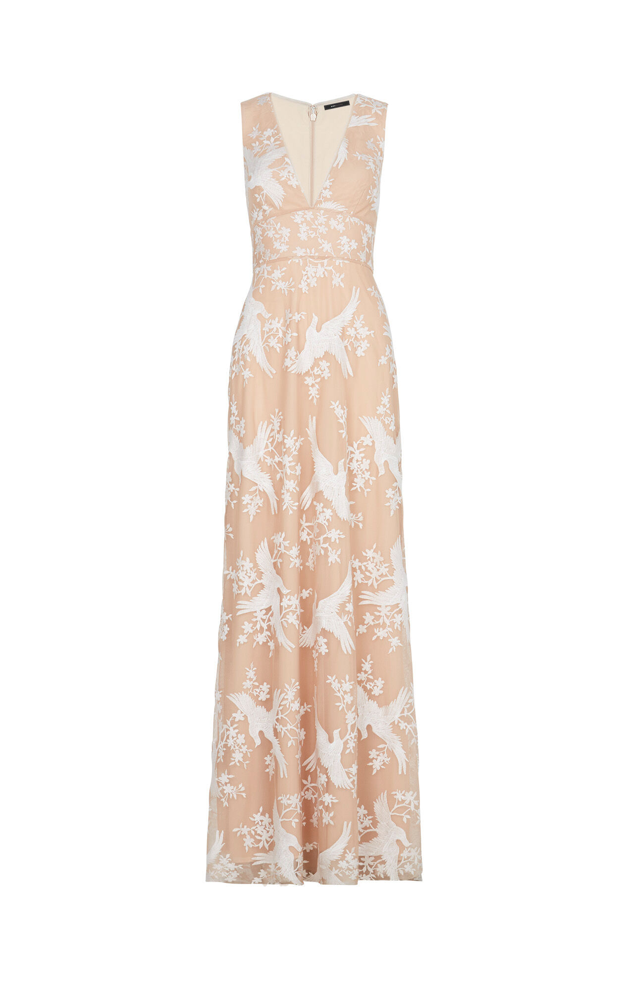 Cecilia Dove Embroidered Gown