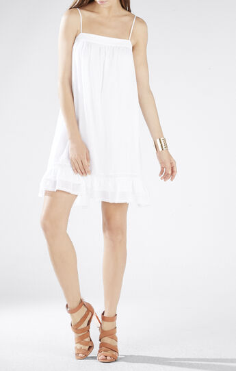 Aisha Lace Ruffle-Hem Slip Dress