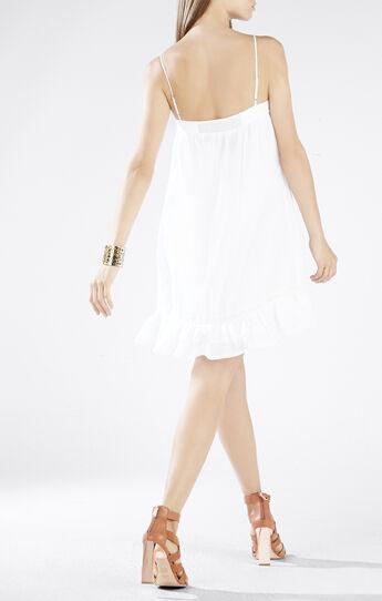Aisha Lace Ruffle-Hem Slip Dress