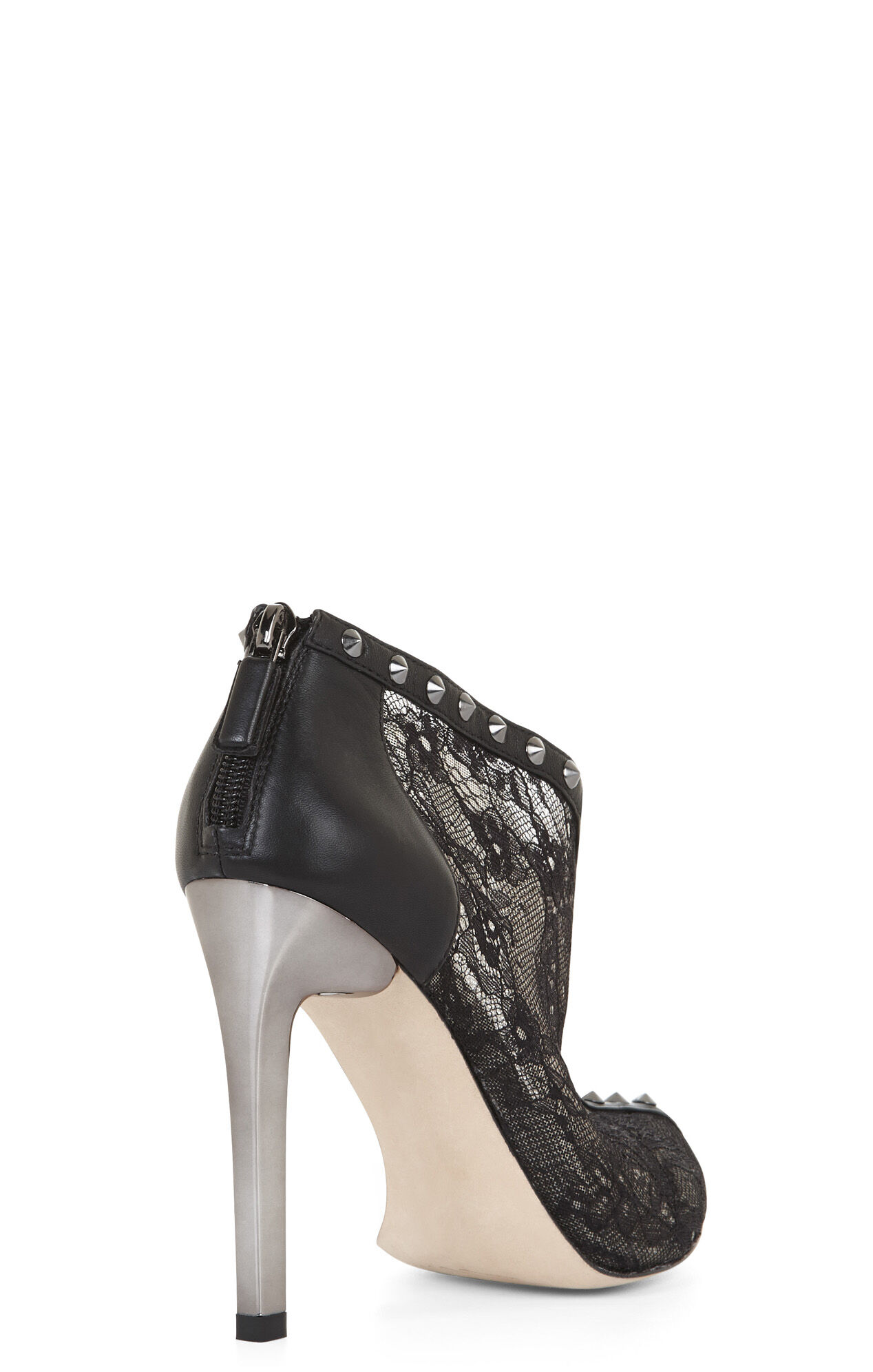 Whim Lace and Studs High-Heel Bootie