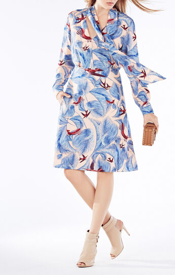 Alicha Hummingbird Paradise Print Dress