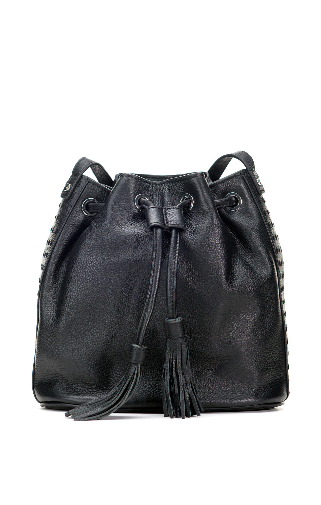 BCBGMAXAZRIA Kaycie Drawstring Bucket Bag - Black