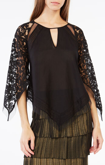 Elyza Lace-Blocked Top