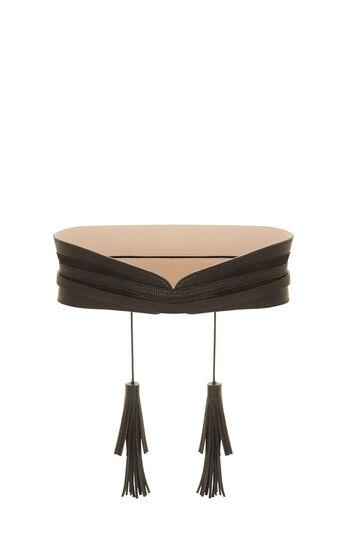 Tassel Faux-Leather Waist Belt