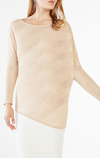 Laheld Side Draped Lace Jacquard Top
