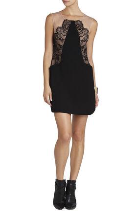 Avrey Sleeveless Lace-Blocked Dress