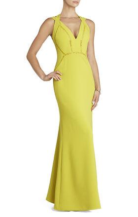 Penelopey Halter V-Neck Long Gown