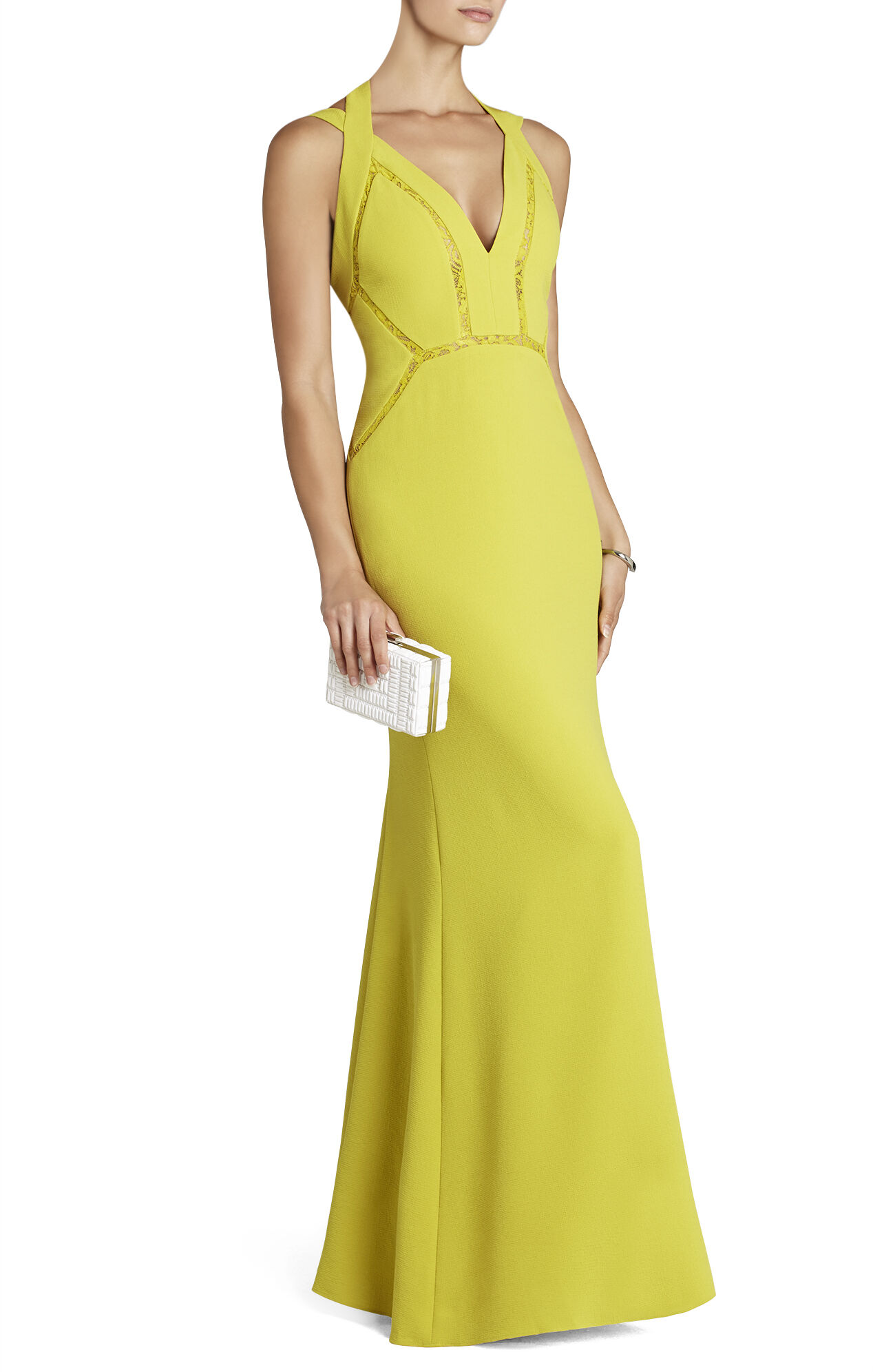 Penelopey Halter V-Neck Long Gown