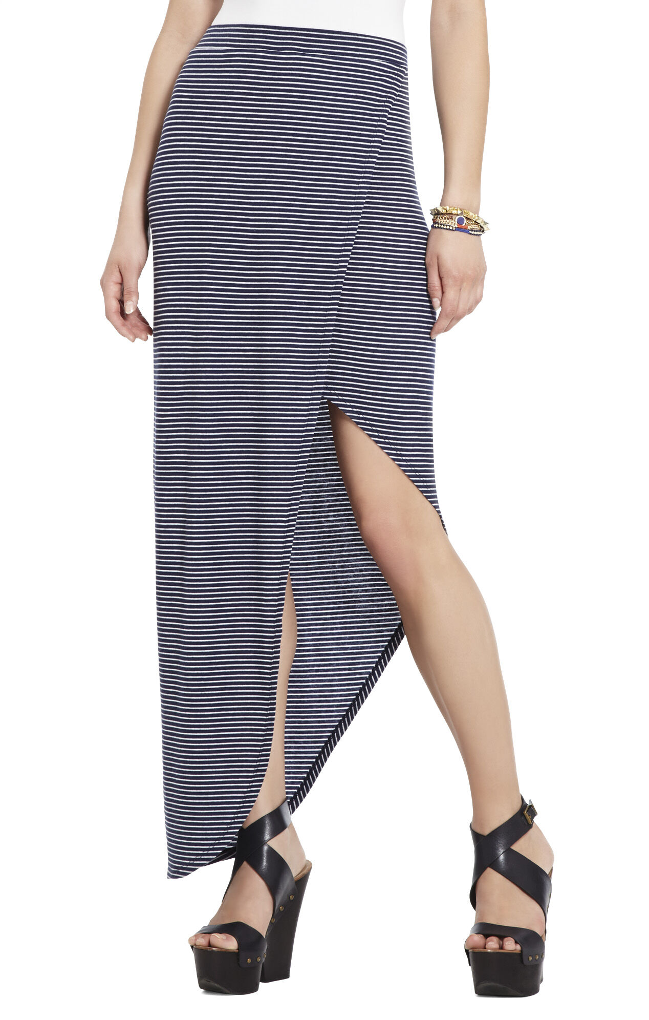 Mercer Ribbed Wraparound Skirt