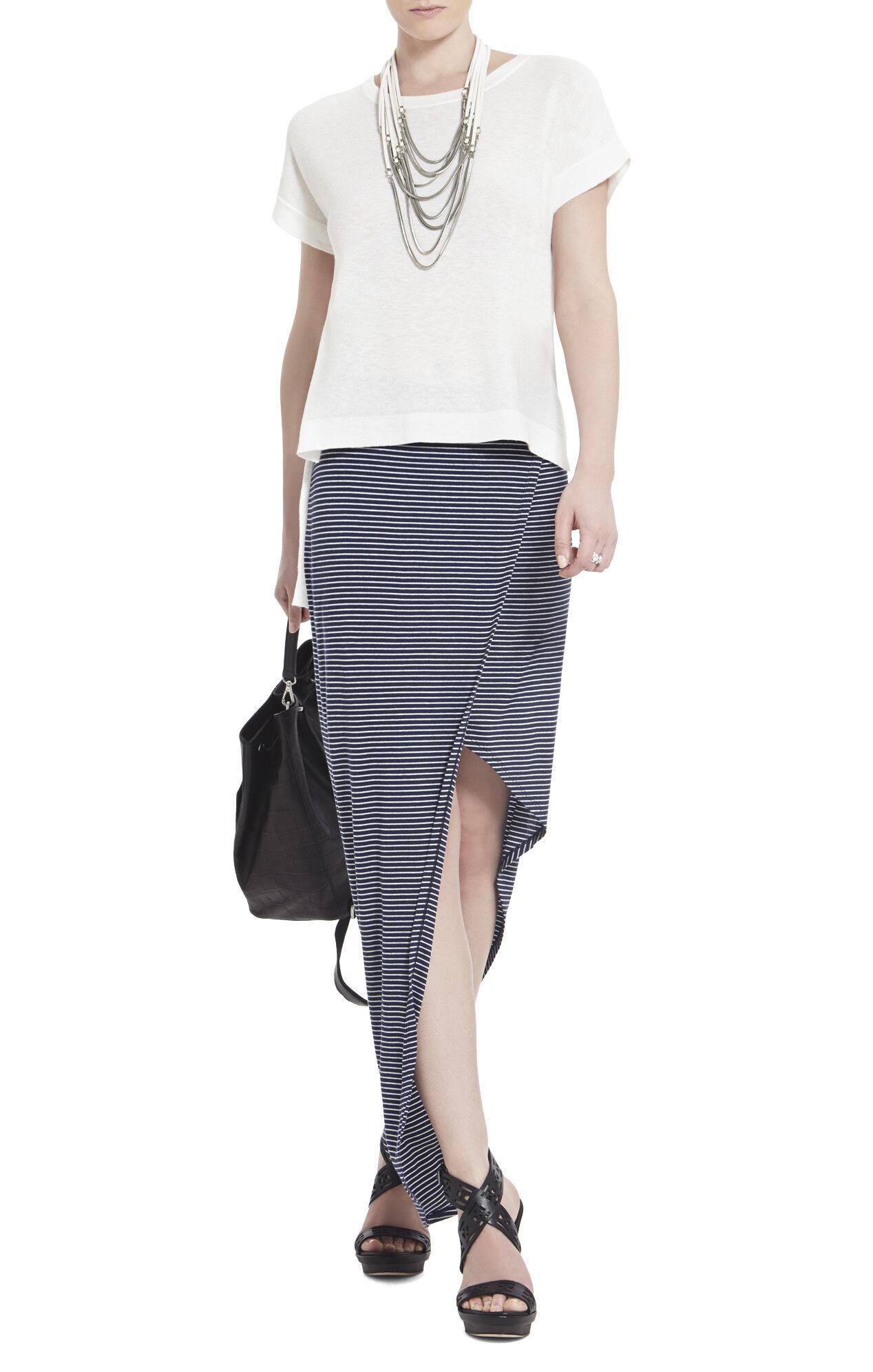 Mercer Ribbed Wraparound Skirt