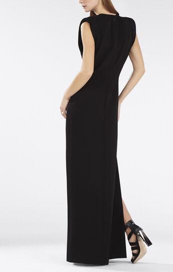 Devyn Plunging V-Neck Bandeau Detail Gown