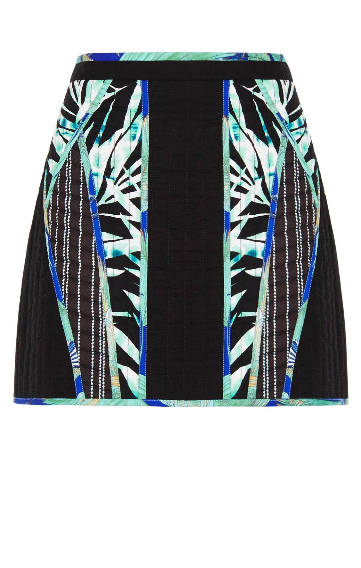 Andrick Palms Print-Blocked Miniskirt