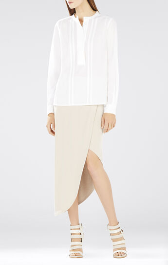 Mirte Long-Sleeve Pintucks Shirt