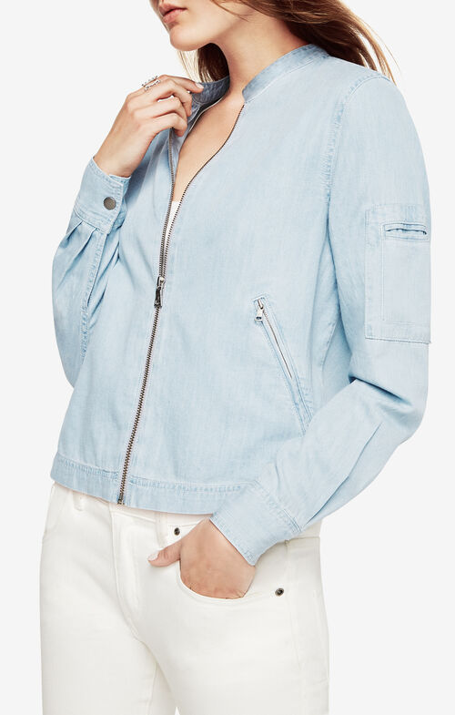 Asher Denim Bomber Jacket