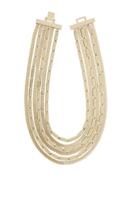 Multi-Layered Mesh-Chain Necklace