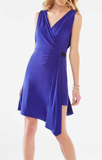 Eda Asymmetrical Jersey Wrap Dress