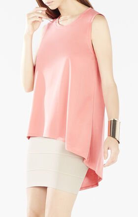 Karyn Sleeveless Asymmetrical-Back T-Shirt