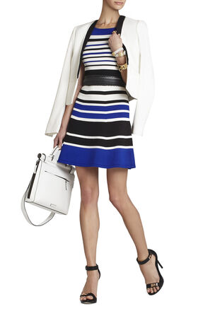 Emmalie Striped A-Line Dress