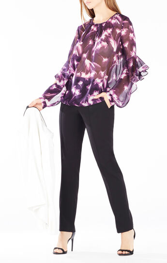 Geremi X-Ray Floral Print Top