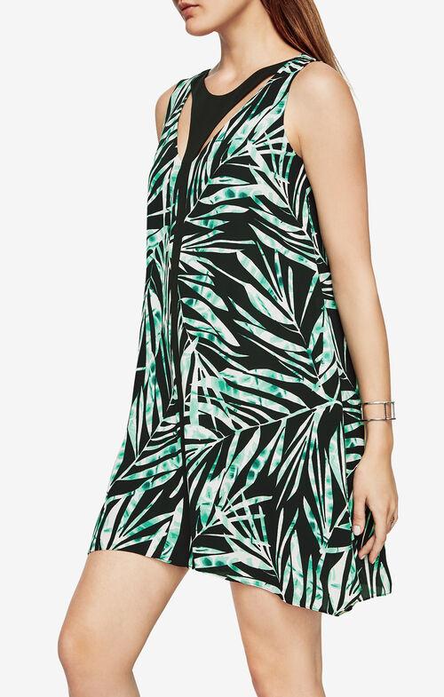 Amelia Palms-Print Dress