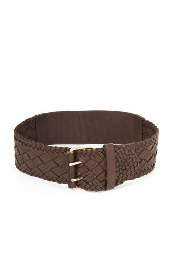 Braided Elastic-Back Waist Belt