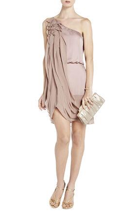 Lydia Silk Ruffle Dress