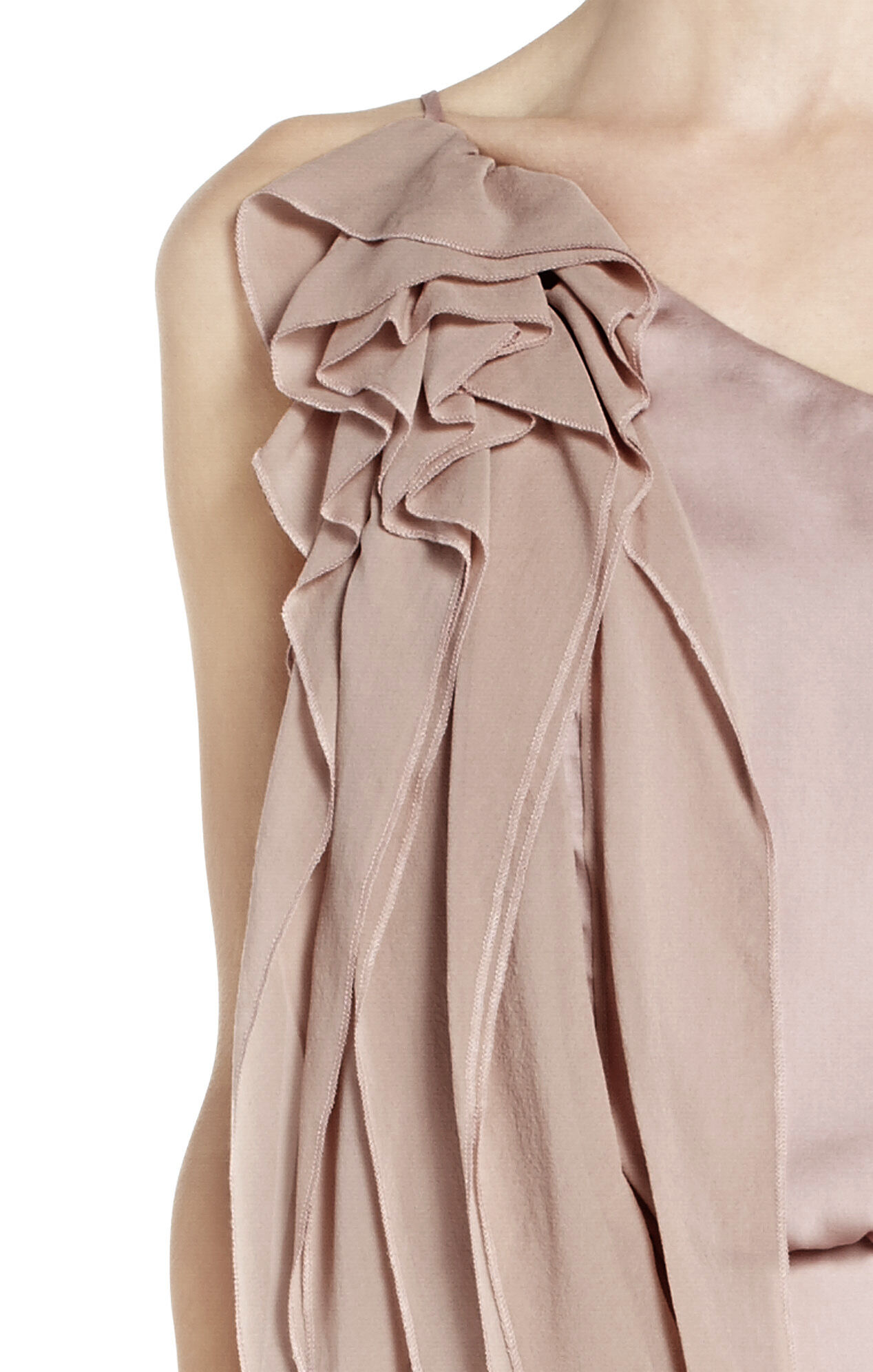 Lydia Silk Ruffle Dress